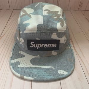 Supreme Washed Out Blue Camo Camp Hat
